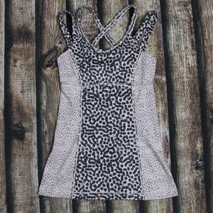 Rare Lululemon Strappy Cross Back Polka Dot Tank